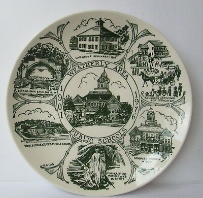 Vintage 1976 Weatherly Area Public Schools Pennsylvania Collector Plate