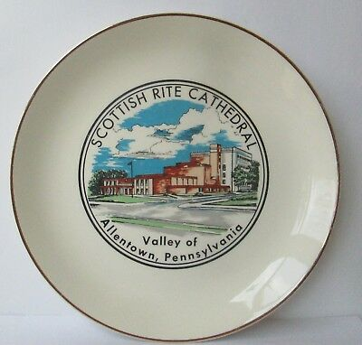 Vintage Scottish Rite Cathedral Allentown Pennsylvania Collector Plate