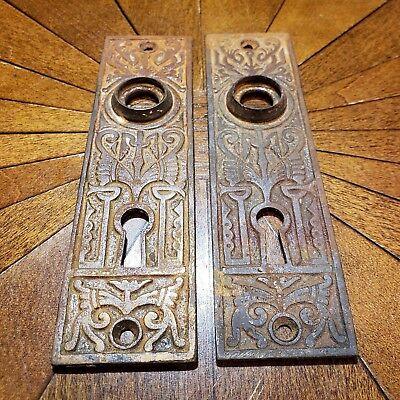 Eastlake Victorian Antique Solid Brass Doorplate Circa 1900's