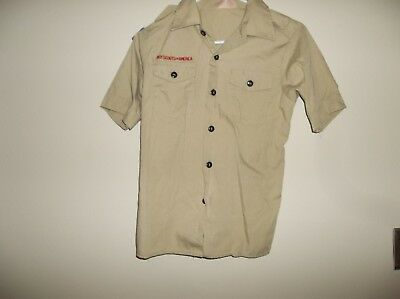 BOY SCOUTs of AMERICA SHIRTS - Youth Medium (10-12) - Flag patch