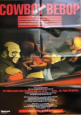 Cowboy Bebop Movie Newtype Free Gift Poster 2001 Feb Spike Faye Jet Ed Anime F/S