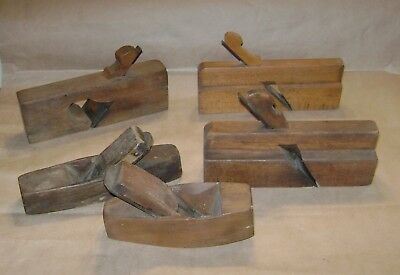 5 Vintage Wooden Wood Planes restore or parts