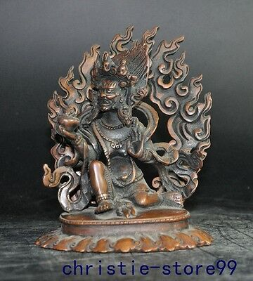 Old tibet buddhism pure bronze Except dirty Vajra Yamantaka buddha Evil spirits