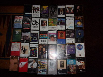 39 Classic Rock n' Roll Cassette Tapes Lot-Prince,Eagles,Beatles,Jackson,more