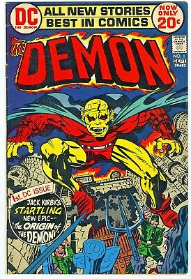Jack Kirby's The Demon Issues 1 through 4 Fine or Better Condition