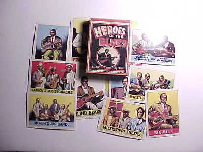 1980 HEROES OF THE BLUES 36 CARD SET IN BOX BY ROBERT CRUMB & YAZOO RECORDS Fine
