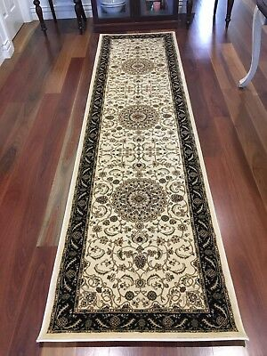 Hallway Runner Hall Runner Rug 3 Metres Long Traditional Cream FREE PICK UP
