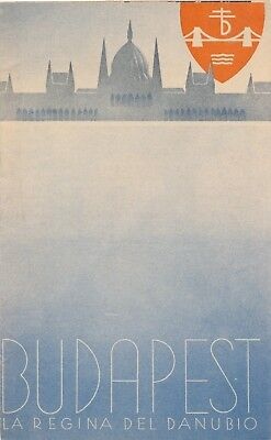 Vintage 1930's Budapest Brochure FREE SHIPPING