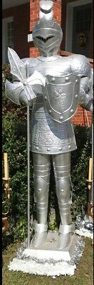 Medieval Knight Statue 9 ft tall LOOK
