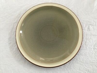 "3 Denby ""Fire / Sage"" Dinner Plates 10 1/2"" Made in England"