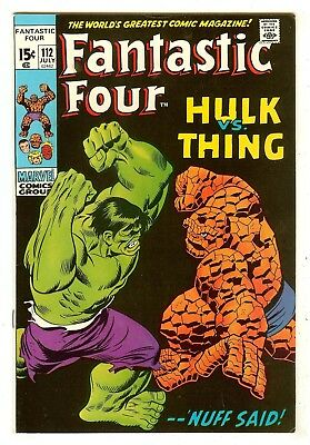 Fantastic Four 112   Hulk vs Thing
