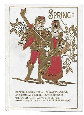 Candee Rubber Shoe Boot Spring Victorian Trade Card Milford, N. H.