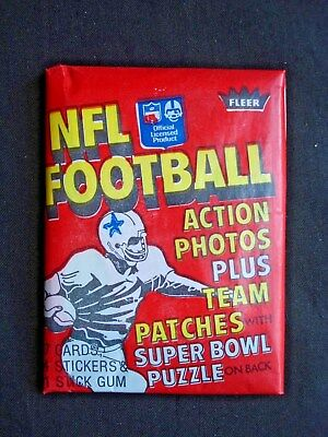 1978 Fleer *nfl Football* Sealed Wax Pack