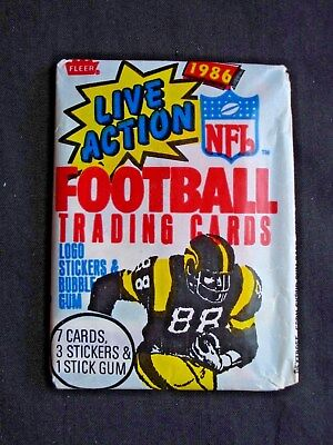 1986 Fleer *nfl Football* Sealed Wax Pack Htf