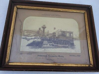 vintage schenectady locomotive works picture coal or wood burning passenger tank