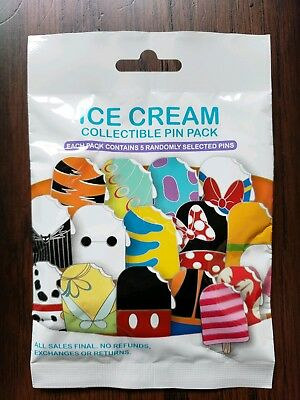 Disney Pins Mystery Ice Cream Character 5 Pin Sealed