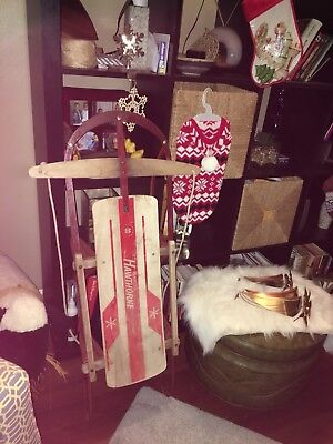 Vintage Wards Hawthorne Wood & Metal Sled
