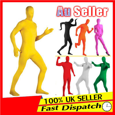 Adult Men Women Zentai Morph Invisible Morphsuit Costume Spandex Full Body Suit