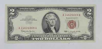 Crisp 1963 Red Seal $2.00 United States Note - Better Grade *638
