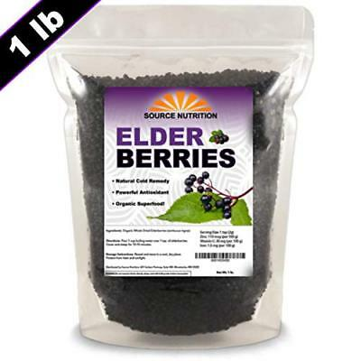 Dried Elderberries by Source Nutrition  Organic Wild Crafted 1 pound