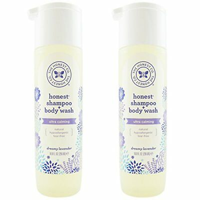 The Honest Company: Dreamy Lavender Scented Shampoo + Body Wash 10 oz  Pack of 2