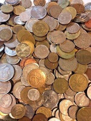 Bulk Lot of 100 Assorted World Foreign Coins- Nice Assorted Mix!!!