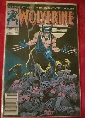 Wolverine Comic Book #1 NOV 1989 MARVEL--AT LAST- IN HIS OWN MONTHLY SERIES!