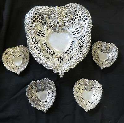 Gorham Peirced Sterling 5 pc. Candy or Nut Dish Set