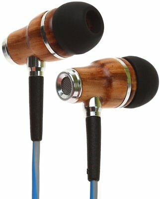 Symphonized NRG 3.0 Earbuds | Wood In-ear Noise-isolating Headphones w Mic BLUE