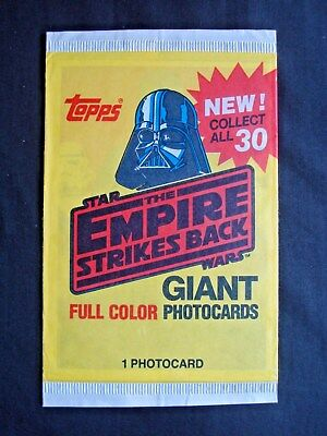 1980 Topps *star Wars:the Empire Stikes Back Giant Photocards* Sealed Pack