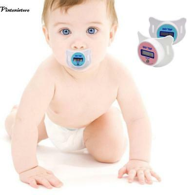 New Practical Baby Kid LCD Digital Mouth Nipple Pacifier Thermometer VTSR