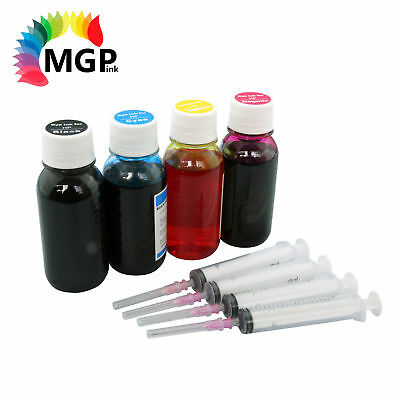 4x 100ml Refill Ink for HP 63 63XL Deskjet 1110,1112,2130,2131,2132,3630,3632