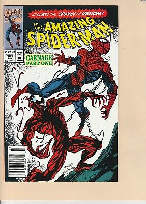 AMAZING SPIDERMAN 361!  Never Read!  CARNAGE!