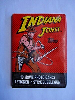 1984 Topps *indiana Jones & The Temple Of Doom* Sealed Wax Pack