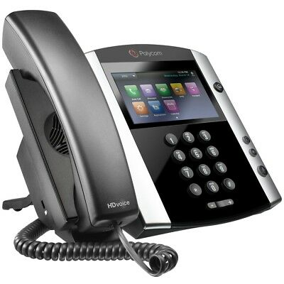 Polycom VVX 600 VoIP PBX Office IP Phone - 16 Line Touchscreen PoE, A/C included
