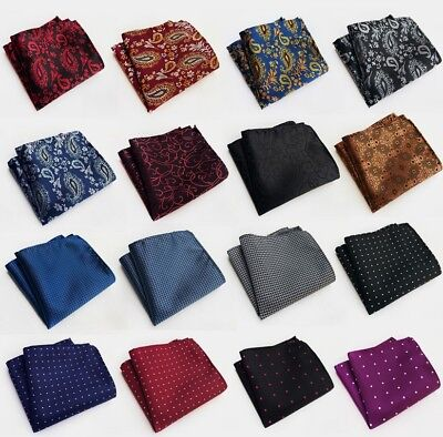 Mens business wedding pattern Pocket Square Handkerchief Hanky lattice suit