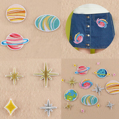 Space Patch Embroidery Sew On Iron On Badge Transfer Fabric Applique Craft FIA
