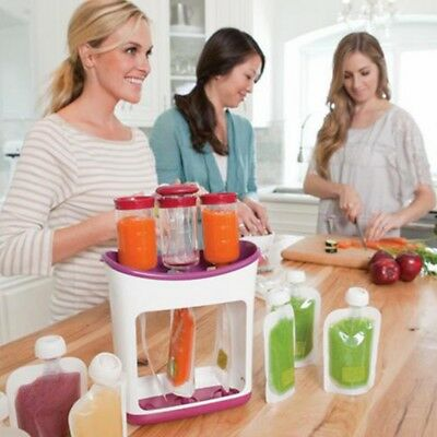 Fresh Squeezed Squeeze Station Baby Food Maker Storage Feeding Pouches Kitchen