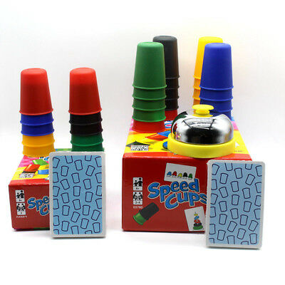 Toys Xmas Gift Portable Speed Cups Playing Cards Game Family Kids Board Games