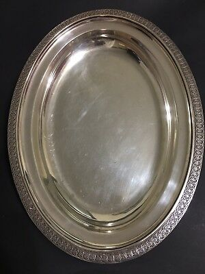 Tiffany And Co. Oval Sterling Platter