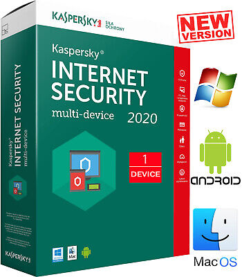 Kaspersky Internet Security 2019 1 Device GLOBAL Key PC Kaspersky 12 Months