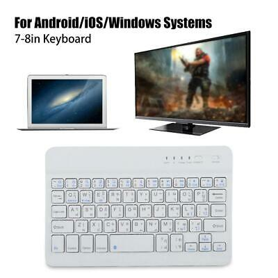 285c992ca63 7-8'' Slim Wireless Bluetooth Thai Keyboard Portable For Phone Tablet PC  Laptop