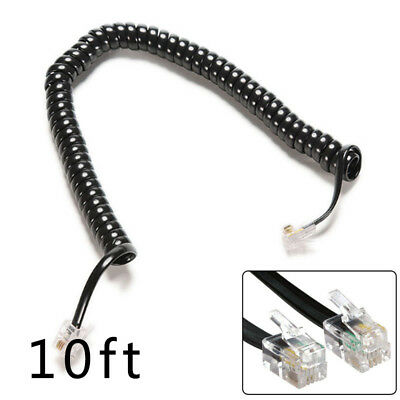 3m Telephone Handset Home Phones Cord Curly Coiled Line Cable Spring Wire RJ10