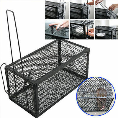 2x Rat Catcher Spring Cage Trap Human Large Live Animal Rodent Indoor Outdoor