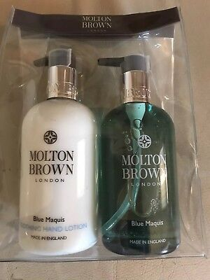 MOLTON BROWN Blue Maquis Hand Wash and Lotion 2 x 300ml Luxury Set in Gift Box