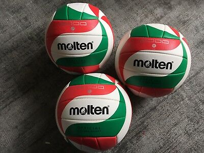 3 x Molten Volleyball V5M2000 Größe 5 MM0515 Official Size and Weight