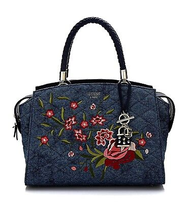 GUESS WOMEN S HEATHER Embroidered Satchel Handbag -  128.00  2d8fca6009577