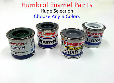 Humbrol Enamel Paints Lot  Choose any 6 Tinlets/Tins 14ml  (Huge Selection)