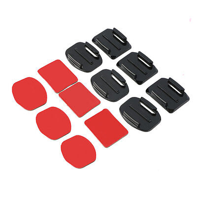 12Pcs Helmet Accessories Flat Curved Adhesive Mount For Gopro Hero 1/2/3 /3+ #S