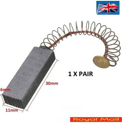 30mm x 11mm x 6mm Motor Carbon Brushes 1 PAIR #G108
